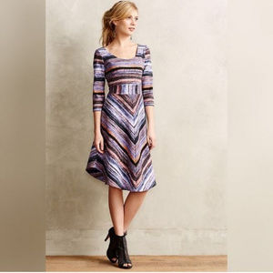 Anthro Maeve Kebren Stripe Knit Dress